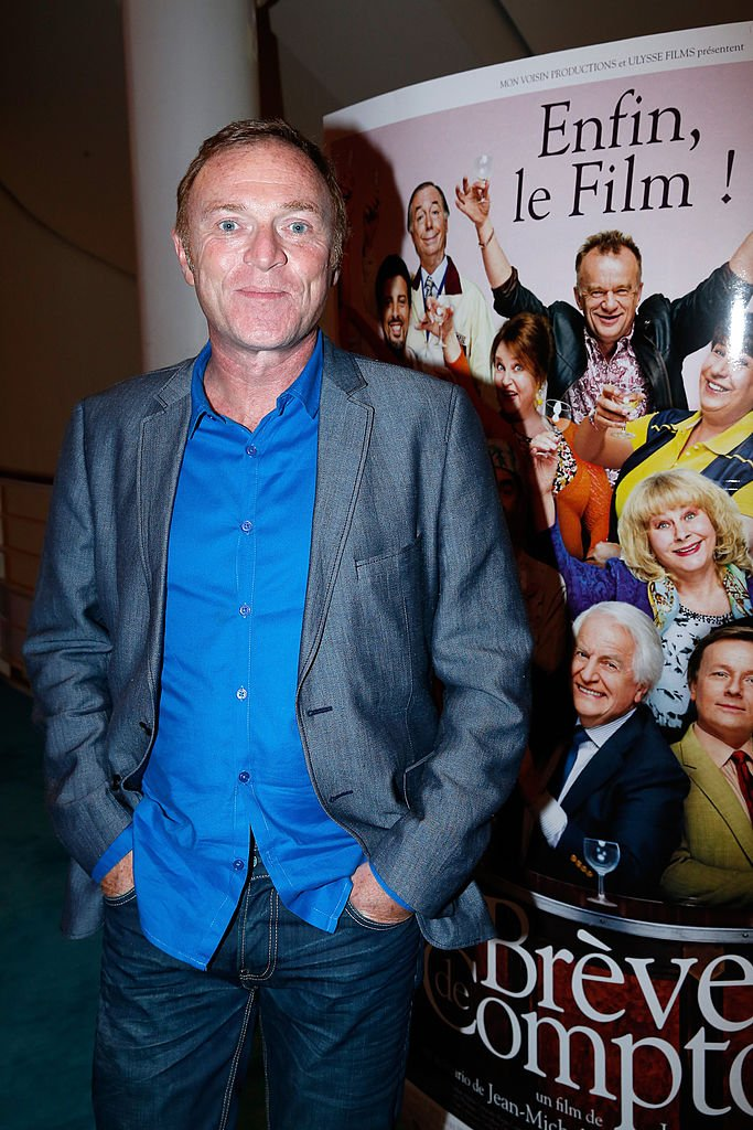 "Christophe Hondelatte assiste aux ""Breves de Comptoir"" : première du film au Théâtre du Rond Point le 8 septembre 2014. 