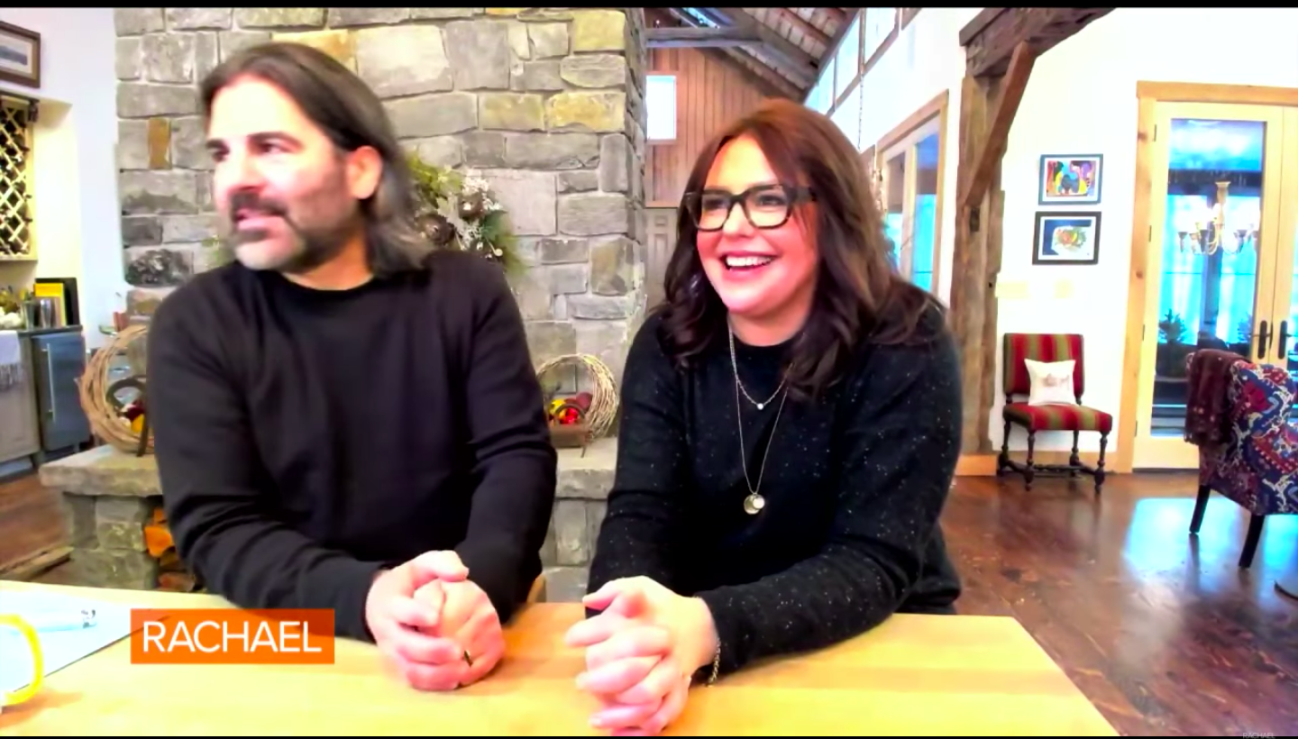 Screenshot of Rachael Ray and her husband giving an update on their home from February 18 2021   Source: YouTube/ Rachael Ray Show