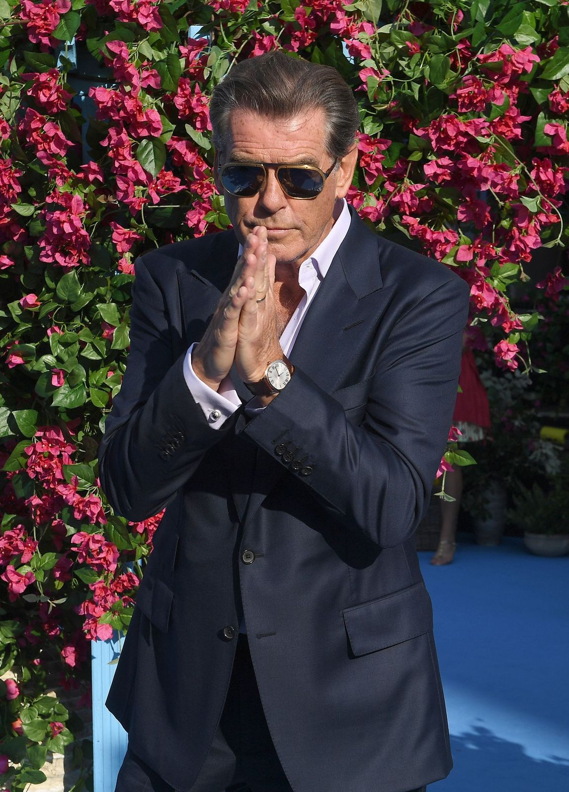 """Pierce Brosnan at the """"Mamma Mia! Here We Go Again"""" world premiere on July 16, 2018, in London, England 