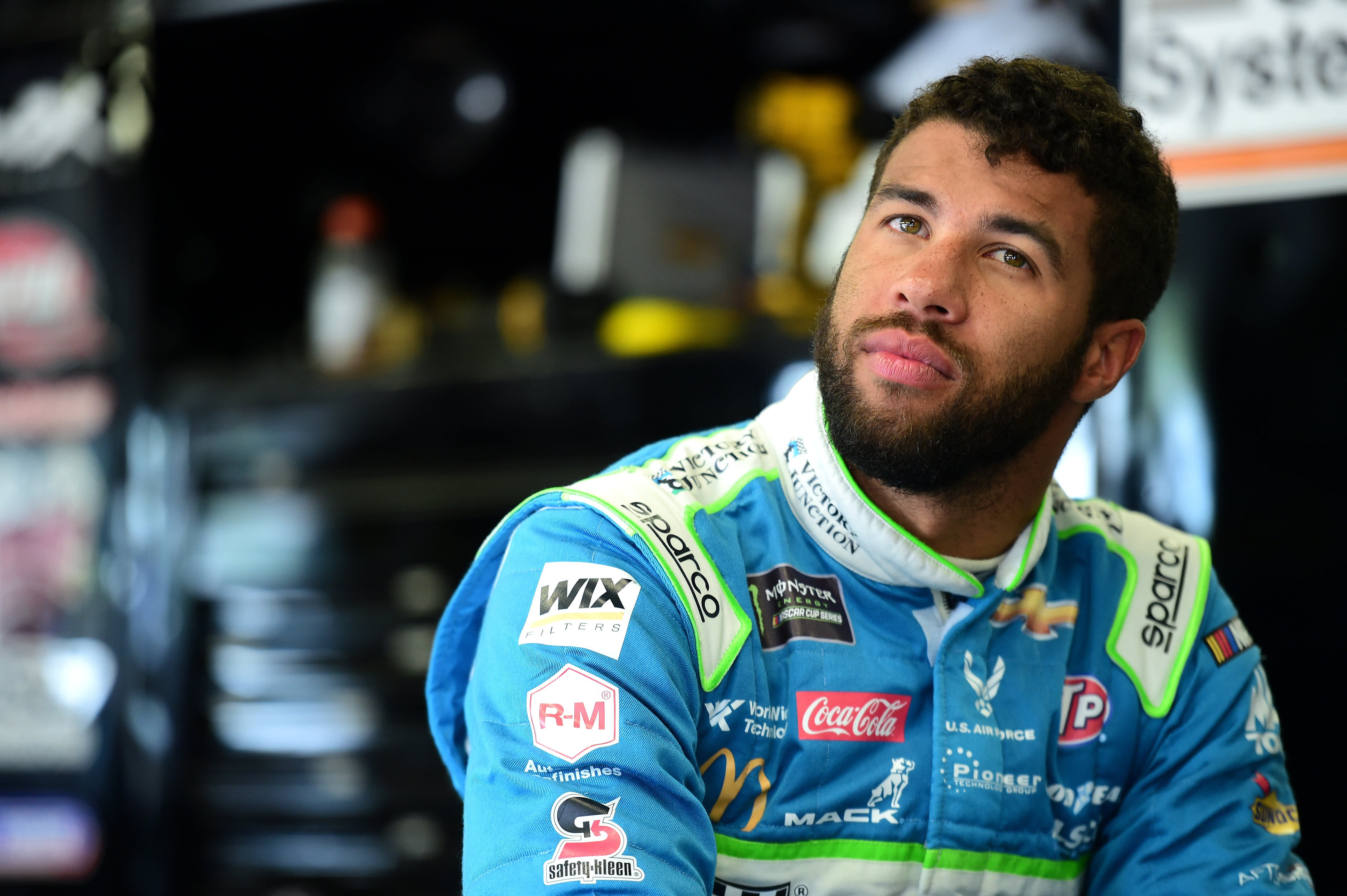 Bubba Wallace at New Hampshire Motor Speedway on July 20, 2019, in Loudon, New Hampshire.   Source: Getty Images.