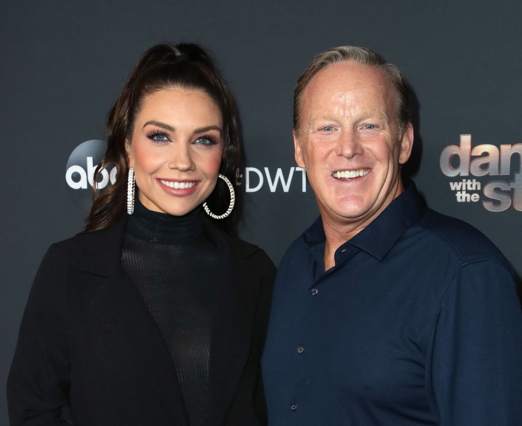 """Jenna Johnson and Sean Spicer attend """"Dancing With The Stars"""" Season 28 Top 6 Finalists at Dominque Ansel at The Grove. 