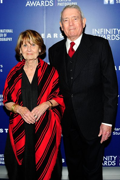 Jean Goebel and Dan Rather at Pier Sixty at Chelsea Piers on April 24, 2017 in New York City.   Photo: Getty Images