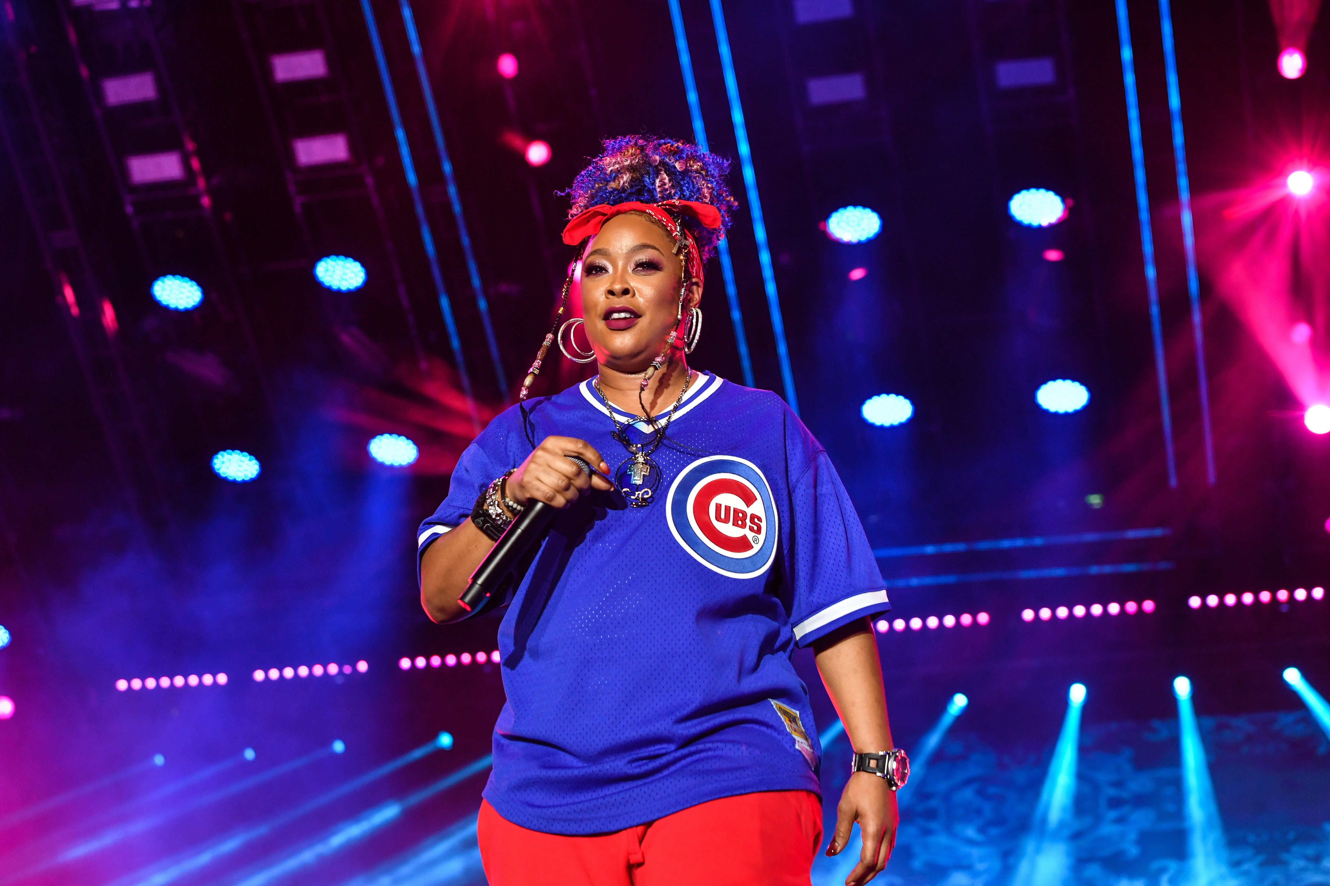 Da Brat on stage at the 2019 Essence Festival on July 07, 2019 in New Orleans, Louisiana. | Source: Getty Images