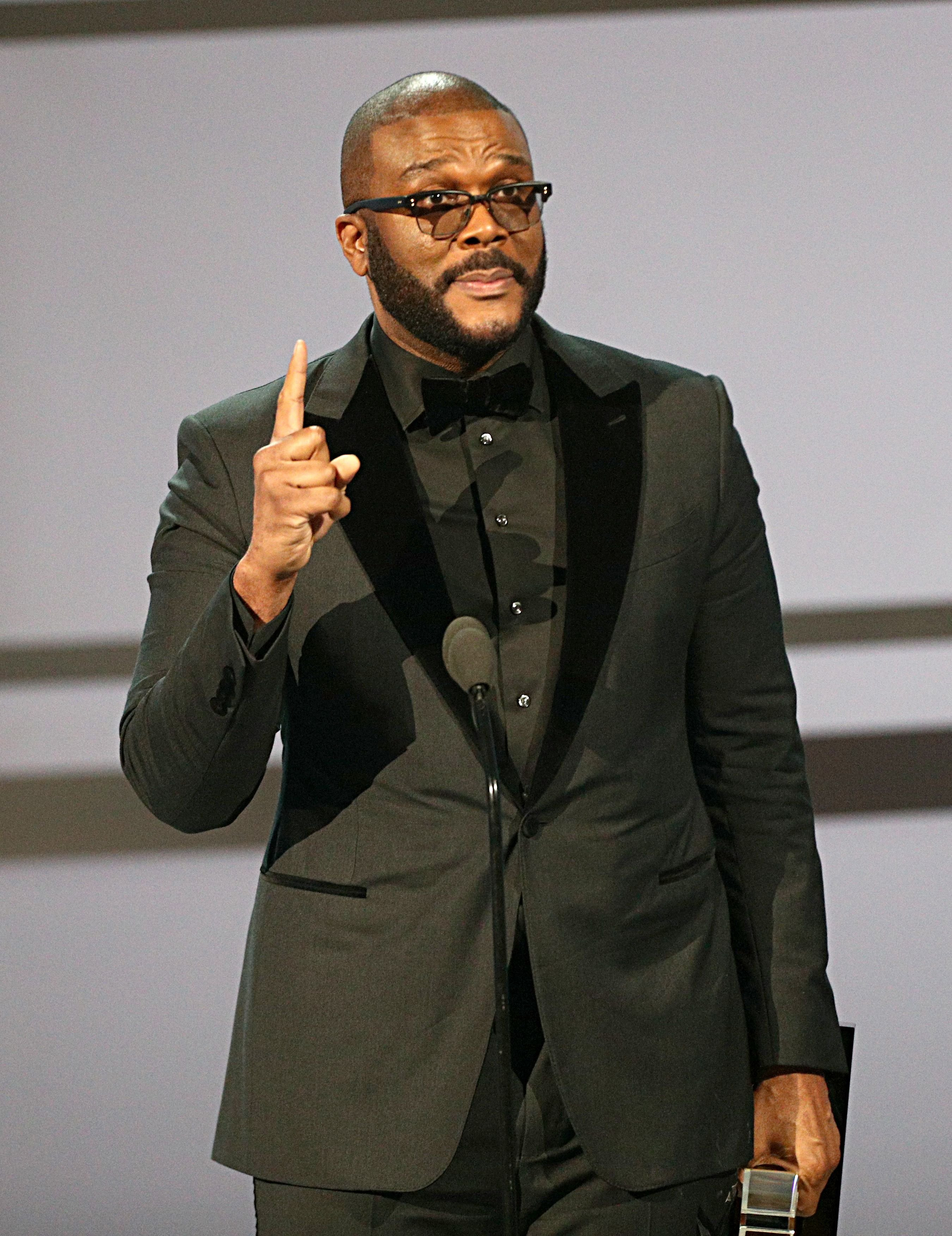 Tyler Perry accepts the Ultimate Icon Award onstage at the 2019 BET Awards at Microsoft Theater on June 23, 2019 in Los Angeles, California. | Source: Getty Images