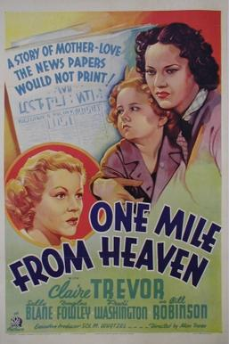 "20th Century Fox's poster for the 1937 film, ""One Mile From Heaven"" 