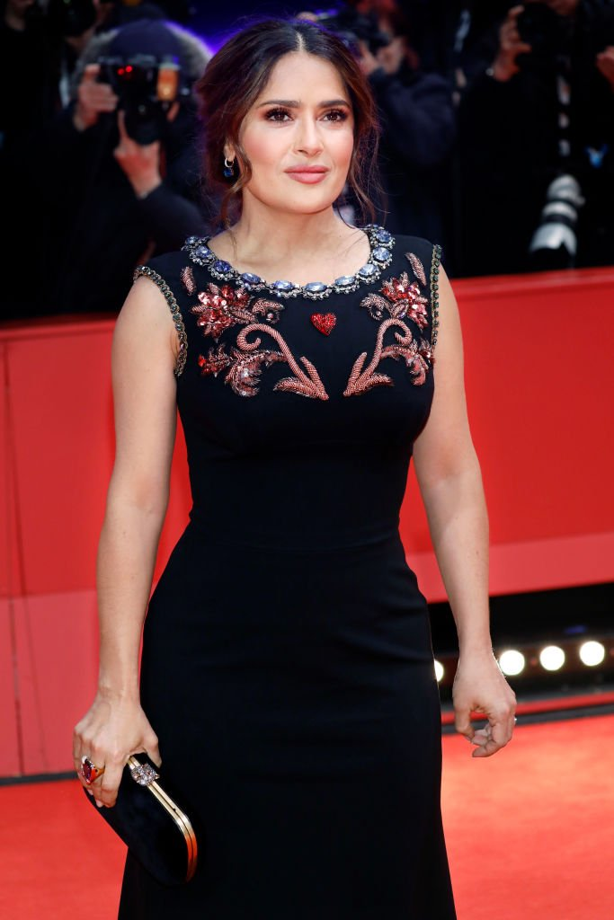 Salma Hayek attends the premiere of 'The Roads Not Taken' at the Berlinale Palast, February 2020| Photo: Getty Images