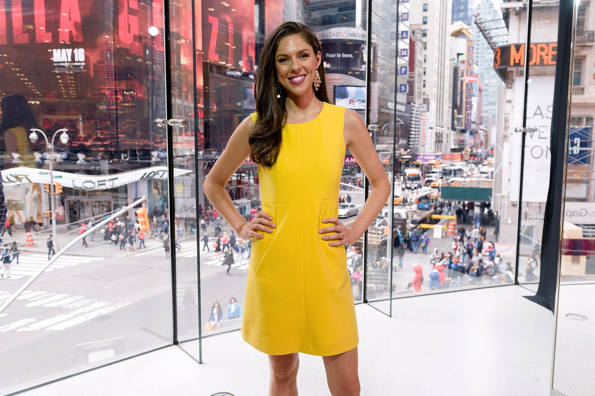 """Abby Huntsman visits """"Extra"""" at their New York studios at H&M in Times Square 