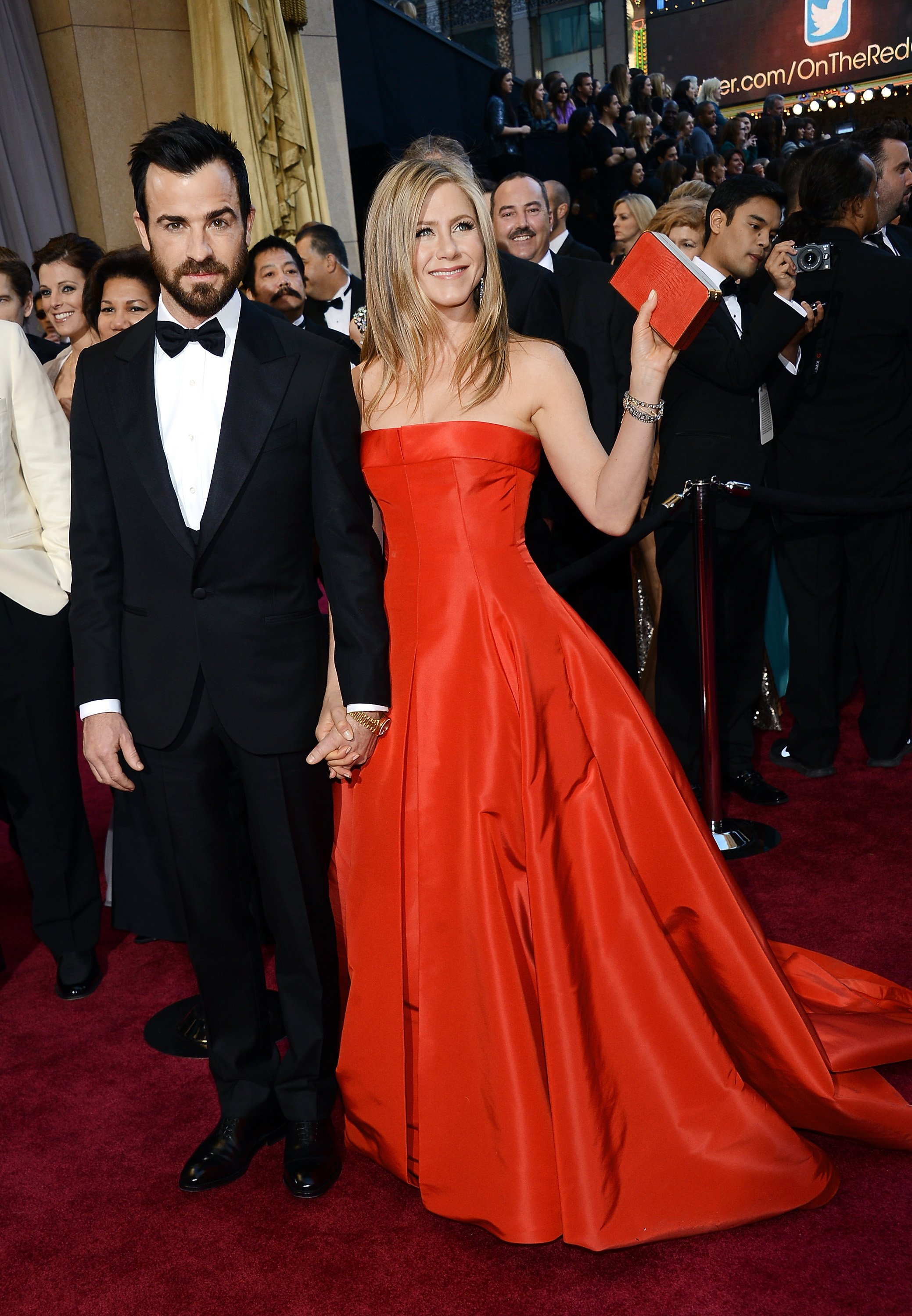 Justin Theroux and Jennifer Aniston arrive at the Oscars at Hollywood & Highland Center on February 24, 2013, in Hollywood, California. | Source: Getty Images.