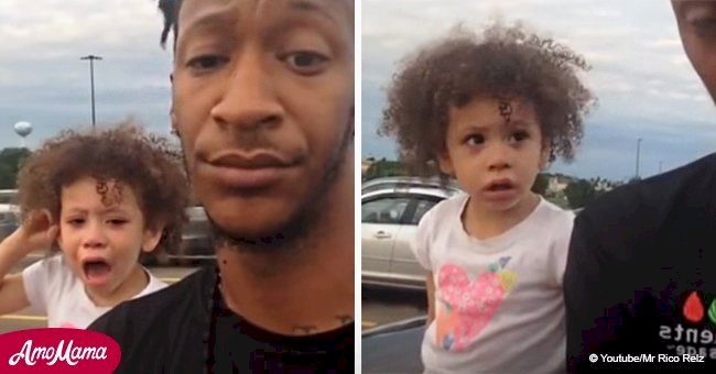 Dad brilliantly ends toddler's public tantrum in viral video watched by over 22 million people