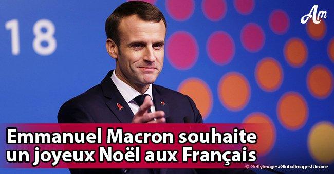 Emmanuel Macron apparaît pour souhaiter un bon Noël aux Français
