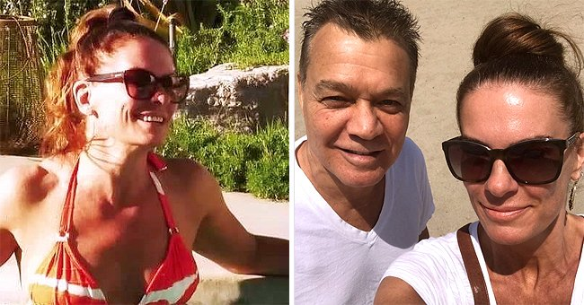 Eddie Van Halen's Wife Janie Shares Gorgeous Photo of Herself Swimming in Her Pool