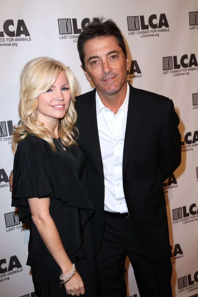 Stuntwoman Renee Sloan (L) and actor Scott Baio at Last Chance for Animals 33rd Annual Celebrity Benefit Gala at The Beverly Hilton Hotel on October 14, 2017 | Photo: Getty Images