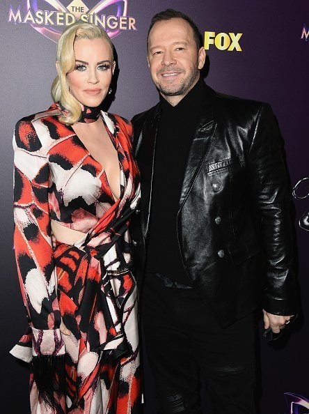 "Jenny McCarthy and Donnie Wahlberg attend Fox's ""The Masked Singer"" Premiere Karaoke Event at The Peppermint Club 