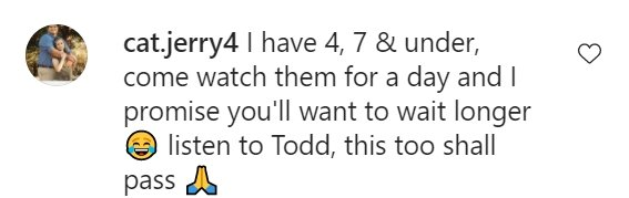 A fan's comment on Chase Chrisley's post on Instagram | Photo: Instagram/chasechrisley