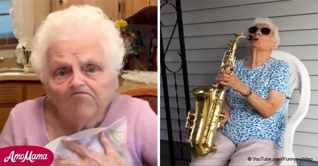 Abuela de 91 años y nieto de 25 años se vuelven virales (video)