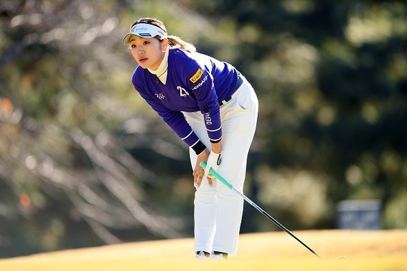 A golfer pictured playing golf during the third round of the Japanese LPGA Final Qualifying Tournament | Photo: Getty Images