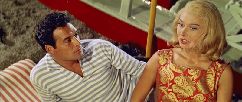 Escena del film Racconti d'estate con la actriz Dorian Gray (1958). | Foto: Wikimedia Commons