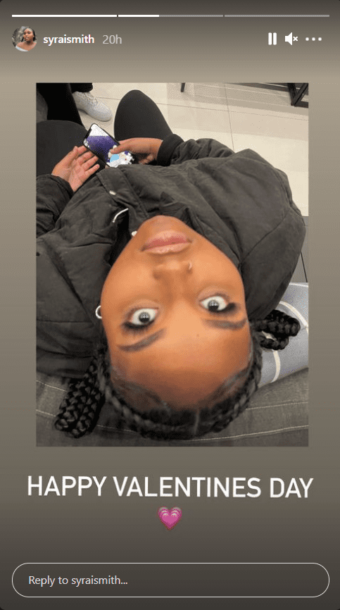 Brandy's daughter Sy'rai shares an aerial selfie of herself.   Photo: Instagram/Syraismith