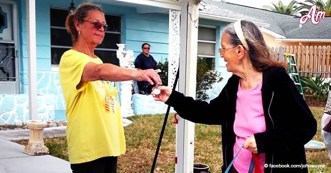 89-year-old woman was evicted but her generous neighbor bought the house back
