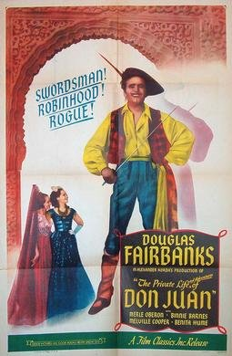 """Poster for """"The Private Life of Don Juan"""" 