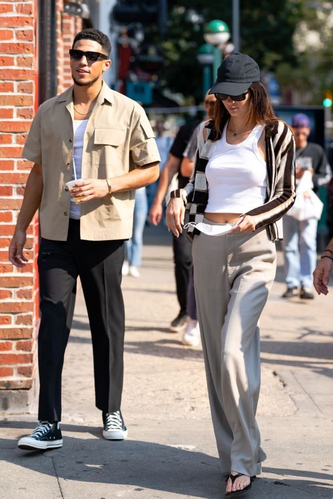 Kendall Jenner and Devin Booker are seen in SoHo, September 2021   Source: Getty Images