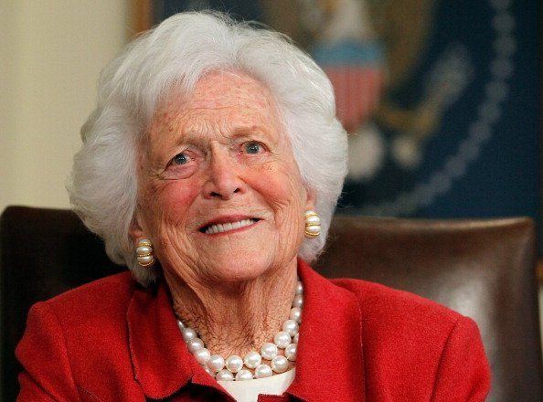 Barbara Bush at Former President George H. W. Bush's office on March 29, 2012 in Houston, Texas | Photo: Getty Images
