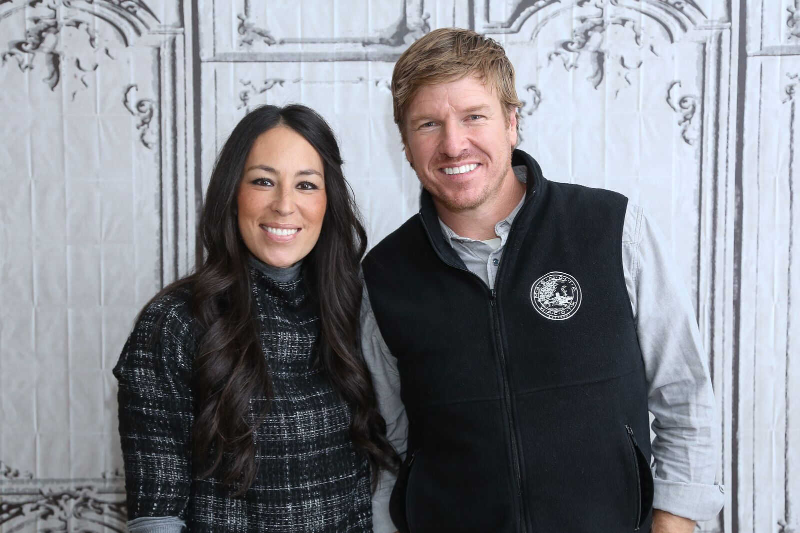 "Real estate pros Chip Gaines (R) and Joanna Gaines attend AOL Build Presents: ""Fixer Upper"" at AOL Studios In New York on December 8, 2015 in New York City 