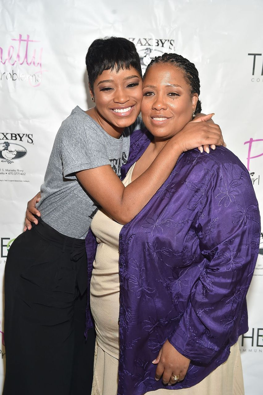 Keke Palmer with her mom Sharon Palmer attend Pretty Girls Problems presents The Girl's Guide To Finding Solutions at Mansour Center on May 30, 2015 in Atlanta, Georgia. | Source: Getty Images