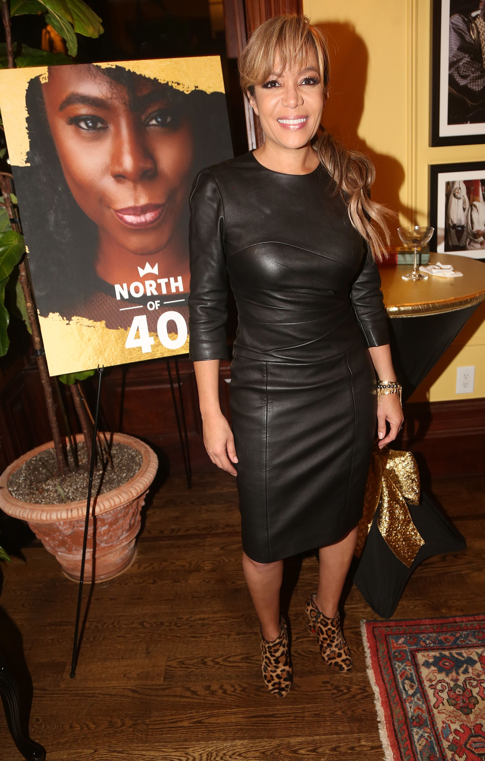 """Sunny Hostin at the celebration for the """"North of 40"""" podcast launch at Dapper Dan Atelier on November 14, 2019, in New York City 
