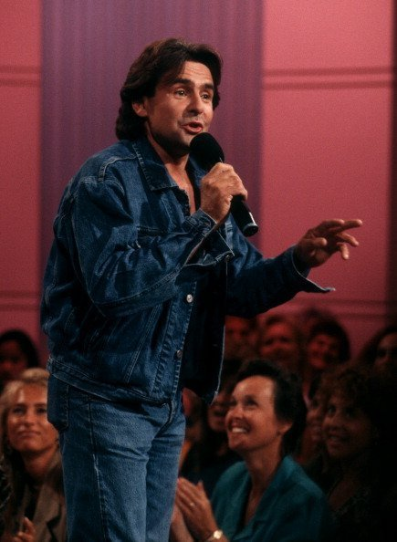 "Musician Davy Jones attending the taping of ""The Sally Jesse Raphael Show"" at Unitel Studios in New York City 