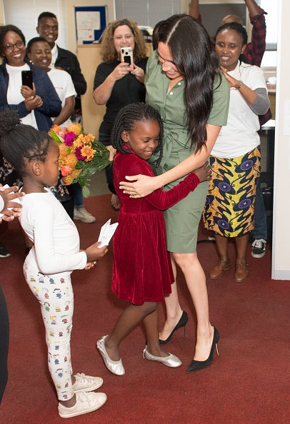 Meghan, Duchesse de Sussex visite ActionAid lors de la tournée royale en Afrique du Sud le 1er octobre 2019 à Johannesburg, Afrique du Sud | Photo : Getty Images