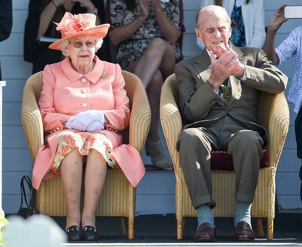 Queen Elizabeth II and Prince Philip, Duke of Edinburgh attend The OUT-SOURCING Inc Royal Windsor Cup 2018 polo match at Guards Polo Club  | Photo: Getty Images