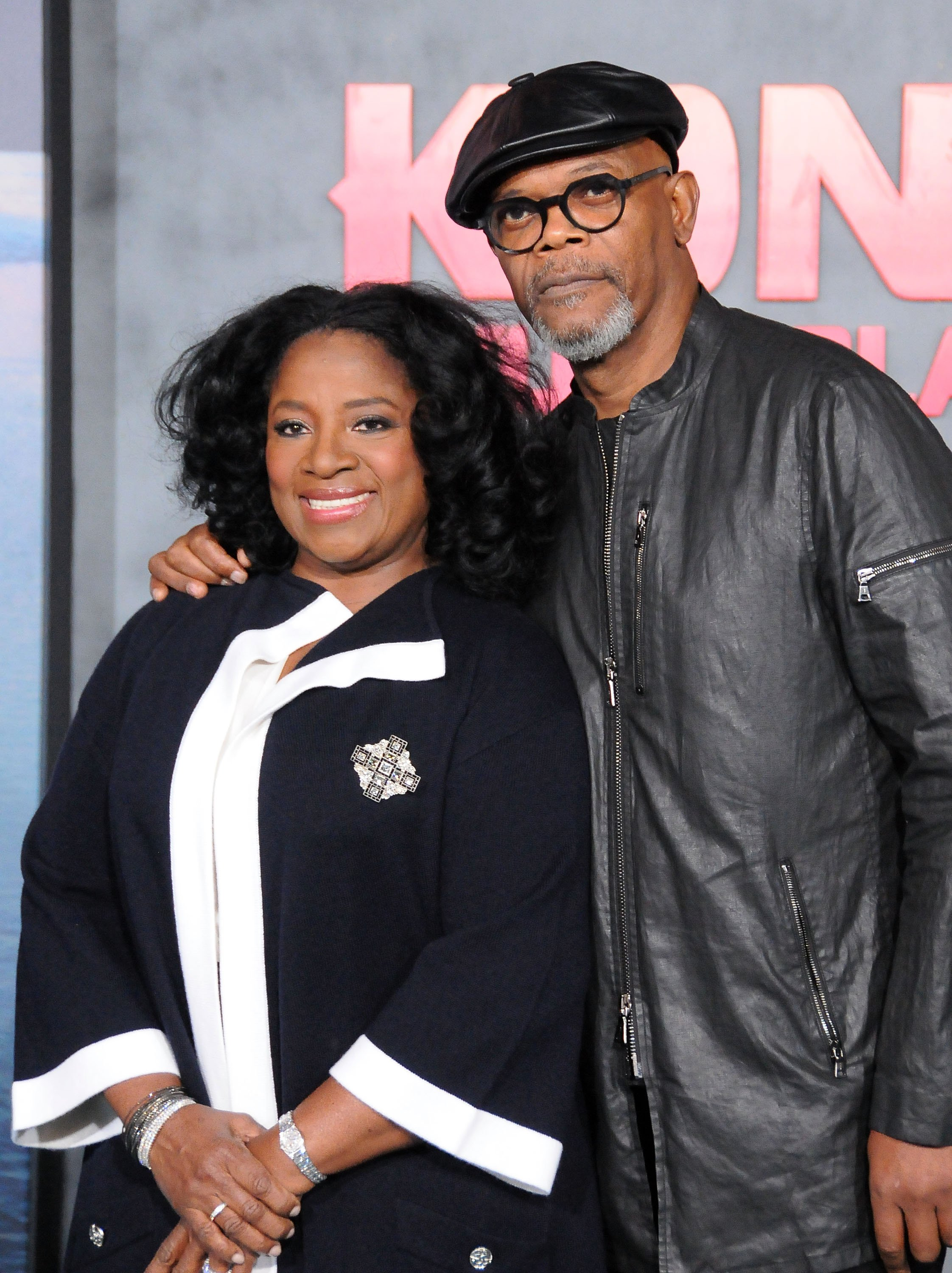 Samuel L. Jackson and wife LaTanya Richardson arrive for the Premiere of Warner Bros. Pictures' 'Kong: Skull Island' at Dolby Theatre on March 8, 2017 in Hollywood, California. | Source: Getty Images.