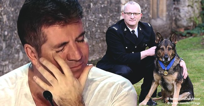 Simon Cowell Couldn't Hold Back His Tears after an Act by an Almost 'Stabbed to Death' Police Dog