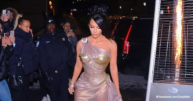 Kim Kardashian Mocked for Flaunting Airy 'Nipple' Dress and High Heels during Freezing Cold