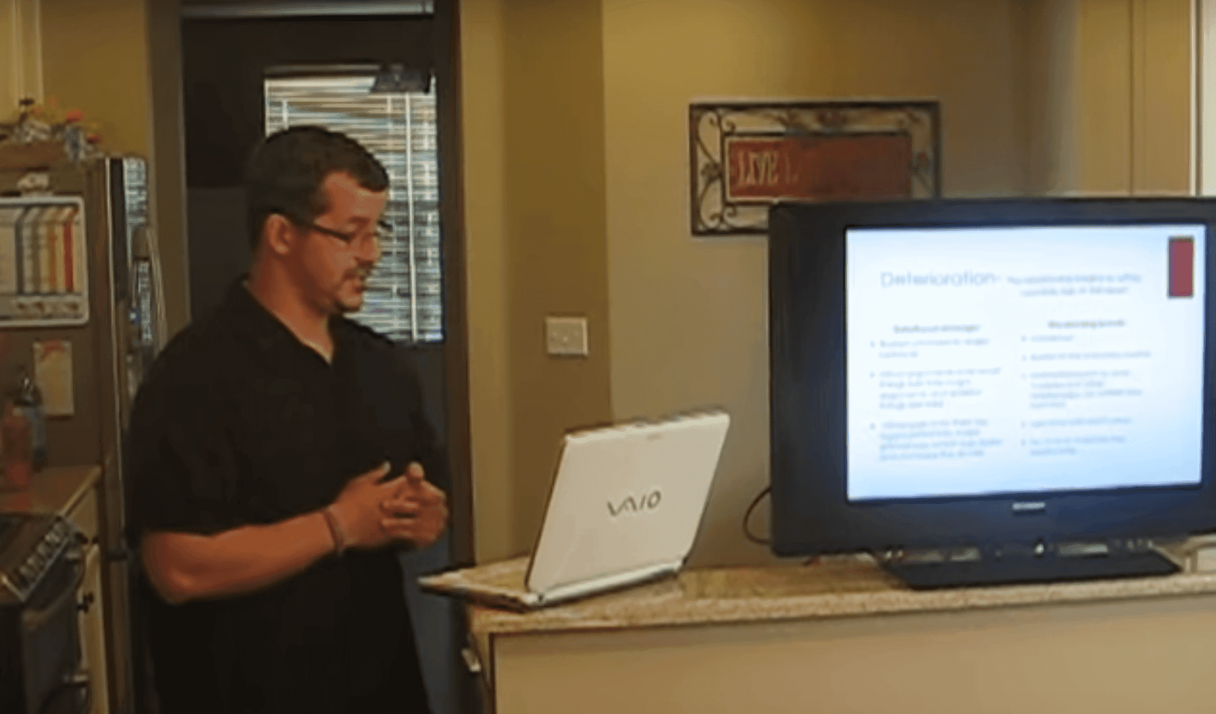 "Chris Watts giving a presentation on ""Communication Speech, Relationship Deterioriation and Repair 