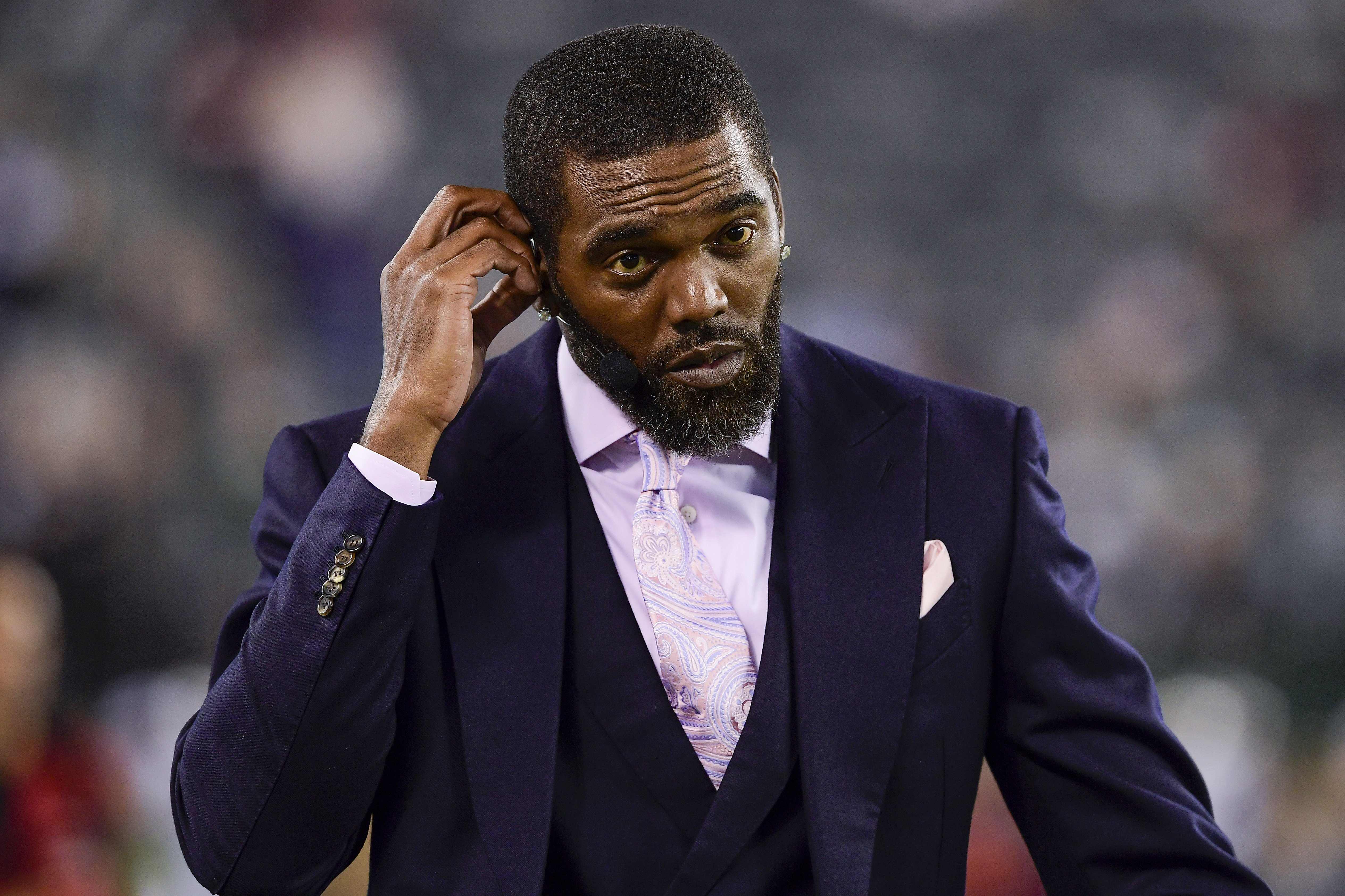 Randy Moss at MetLife Stadium on October 21, 2019. I Image: Getty Images.