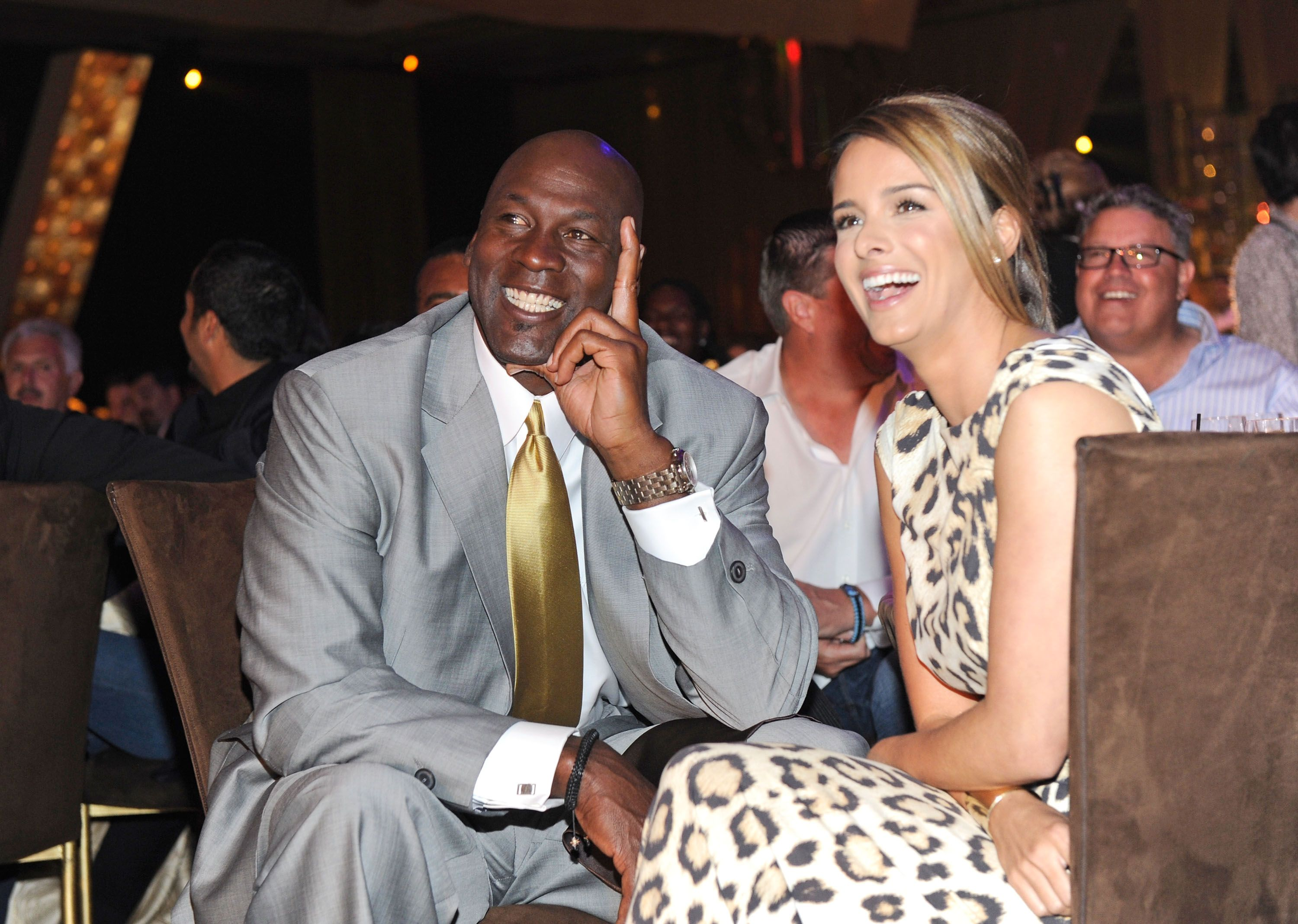 Michael Jordan and his wife Yvette Prieto at a formal function | Source: Getty Images/GlobalImagesUkraine