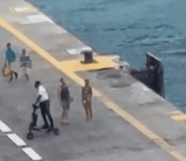 Couple misses the Freedom of the Seas Cruise Ship   Photo: Facebook/Cruceros Puerto Rico