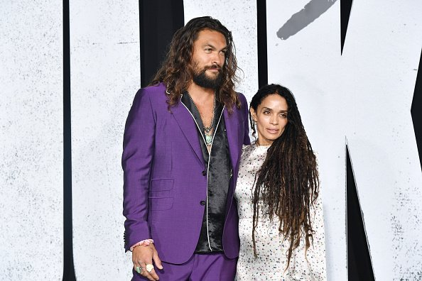 """Jason Momoa and Lisa Bonet at the premiere of Warner Bros Pictures """"Joker"""" in Hollywood, California.