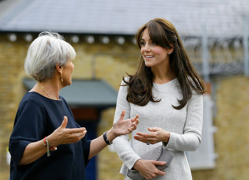 Kate Middleton during a visit to the Rehabilitation of Addicted Prisoners Trust at HMP Send. | Source: Getty Images