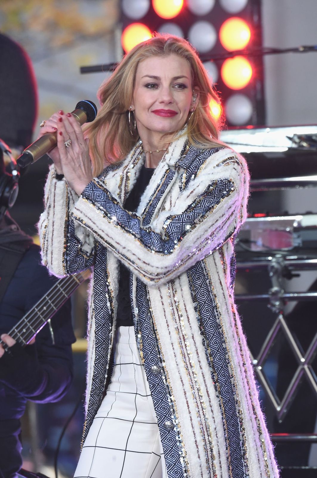 """Faith Hill performs on NBC's """"Today"""" show on November 17, 2017, in New York City 