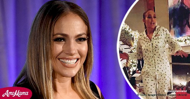 Jennifer Lopez celebrates Christmas by dancing in pajamas, and her moves are cuteness overload