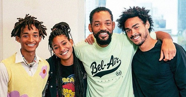 Will Smith Shares Photo with All 3 of His Grown Kids Who Look Exactly like Him
