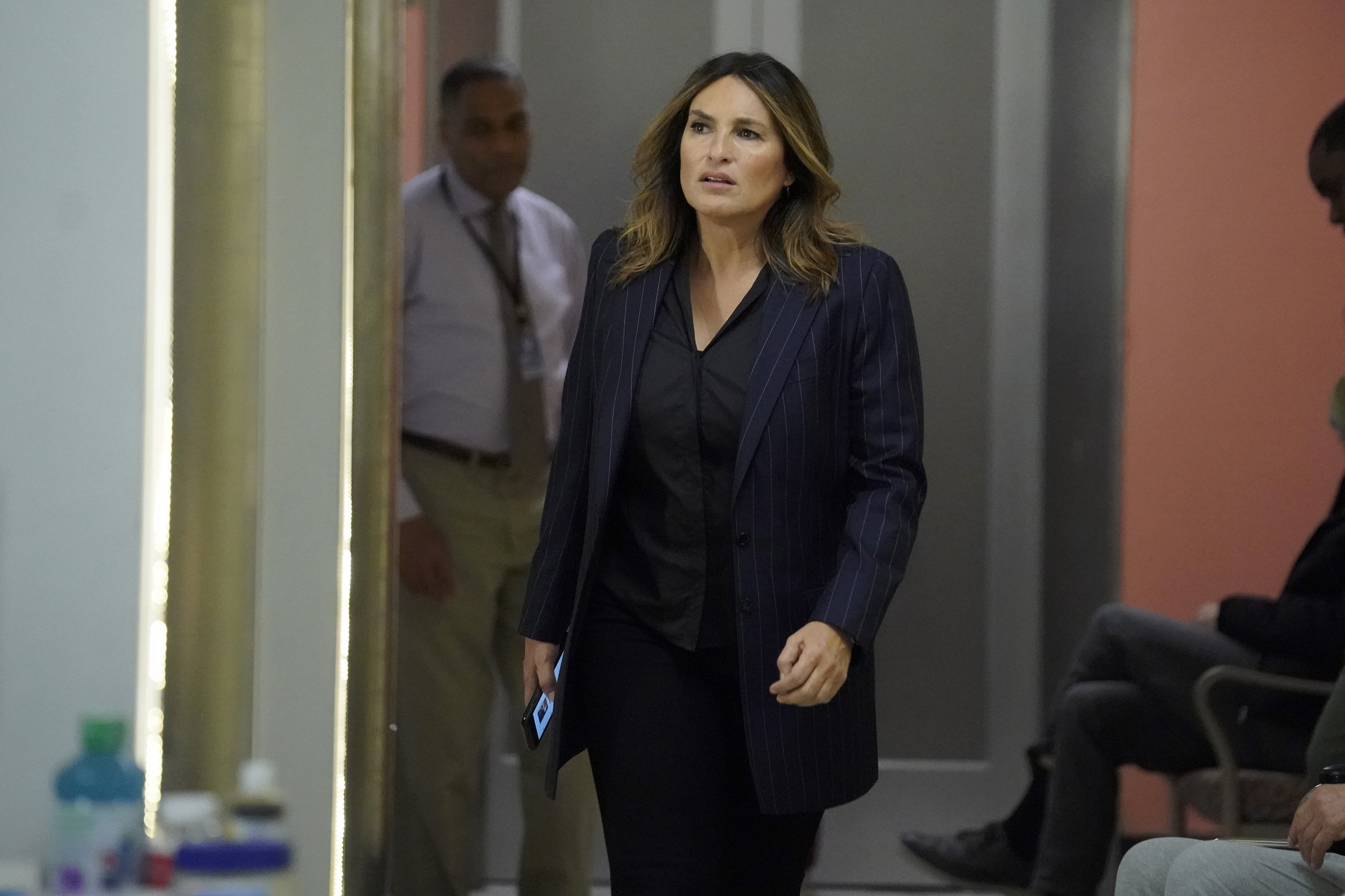 """Mariska Hargitay on set of """"Law & Order: SVU"""" episode titled """"Eternal Relief from Pain"""" in February 6, 2020   Photo: Getty Images"""