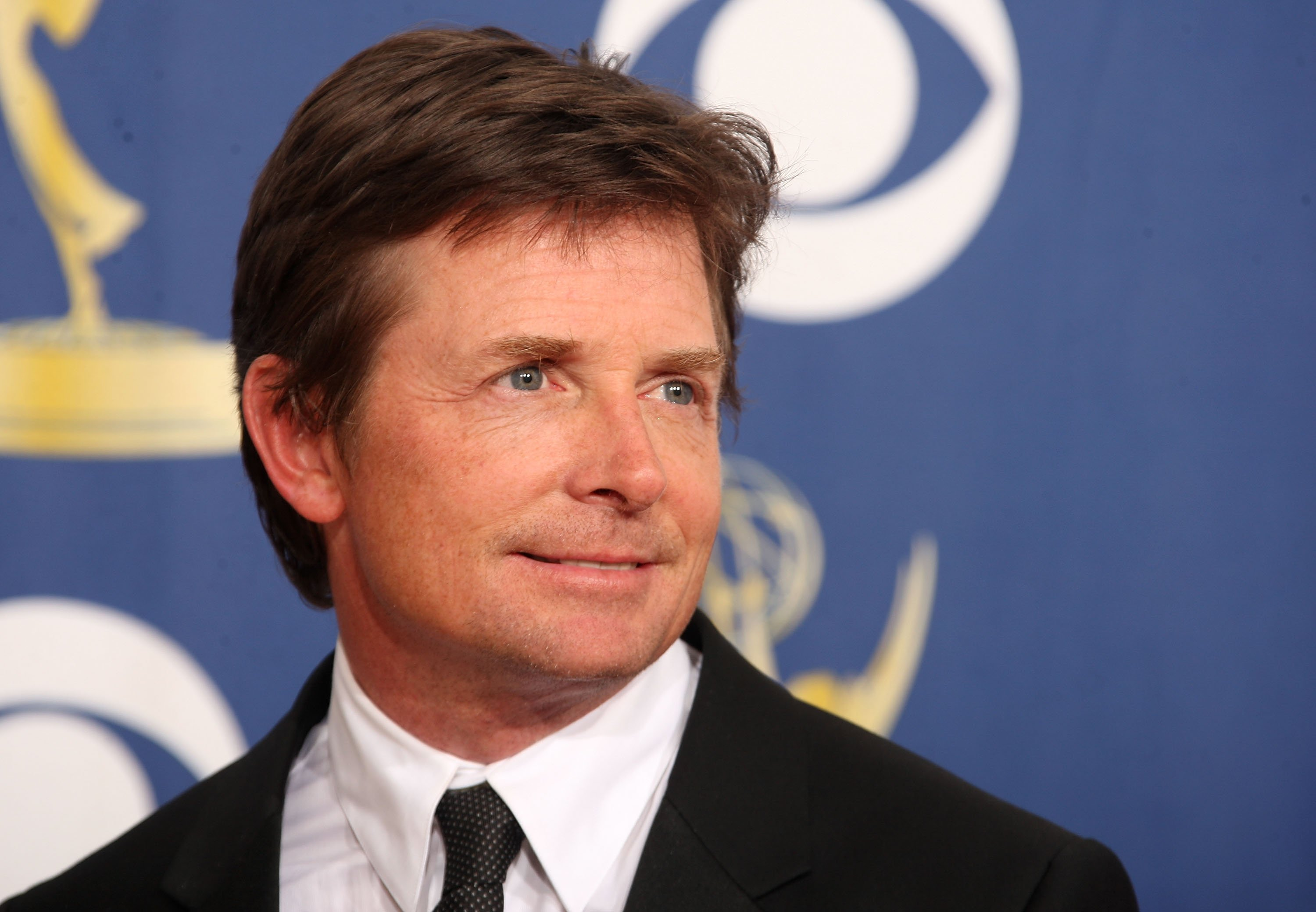 Michael J. Fox poses in the press room at the 61st Primetime Emmy Awards held at the Nokia Theatre on September 20, 2009.   Source: Getty Images