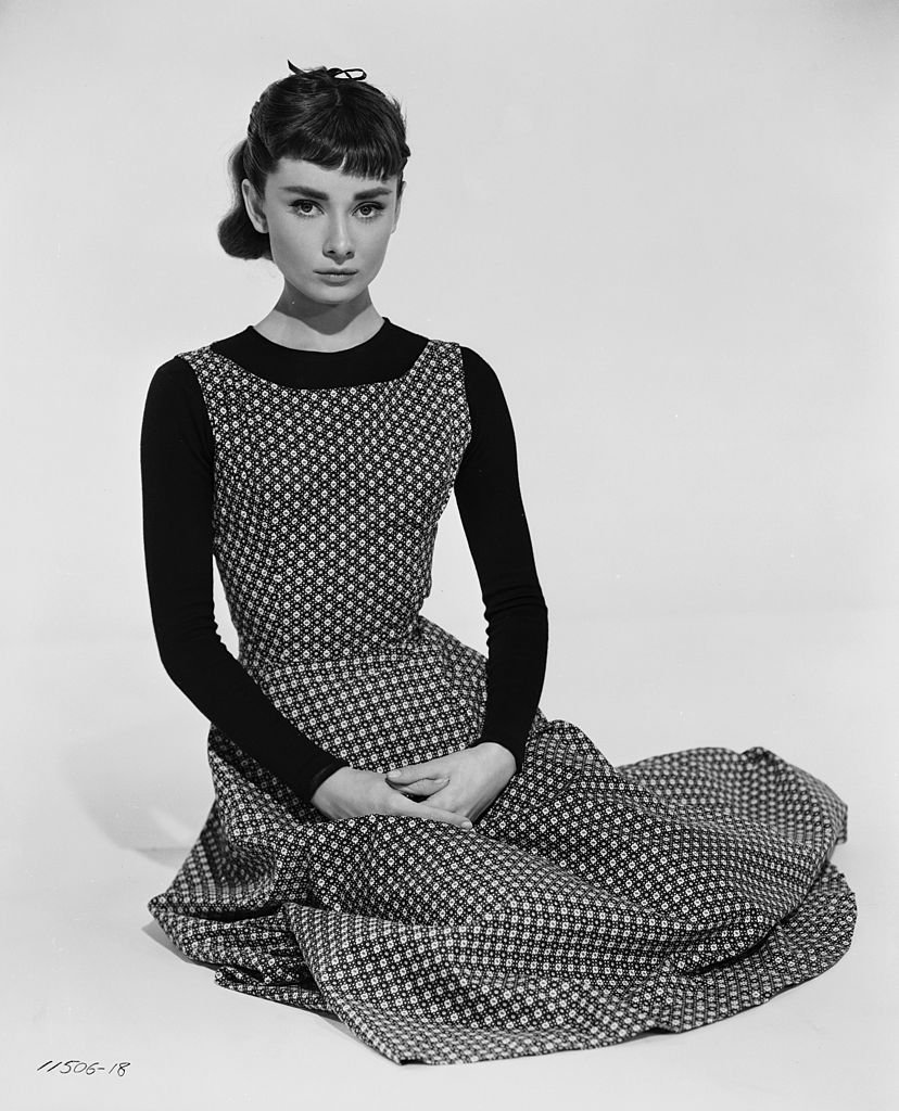 """Audrey Hepburn pictured as her character in """"Sabrina."""" 1956. 