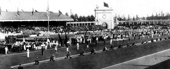 1920 Olympic Games. Antwerp, Belgium. Teams parade at the Opening Ceremony. | Source: Getty Images