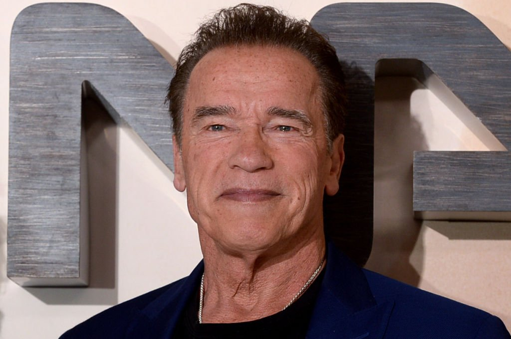 "Arnold Schwarzenegger attends the ""Terminator: Dark Fate"" photocall on October 17, 2019 in London, England. 