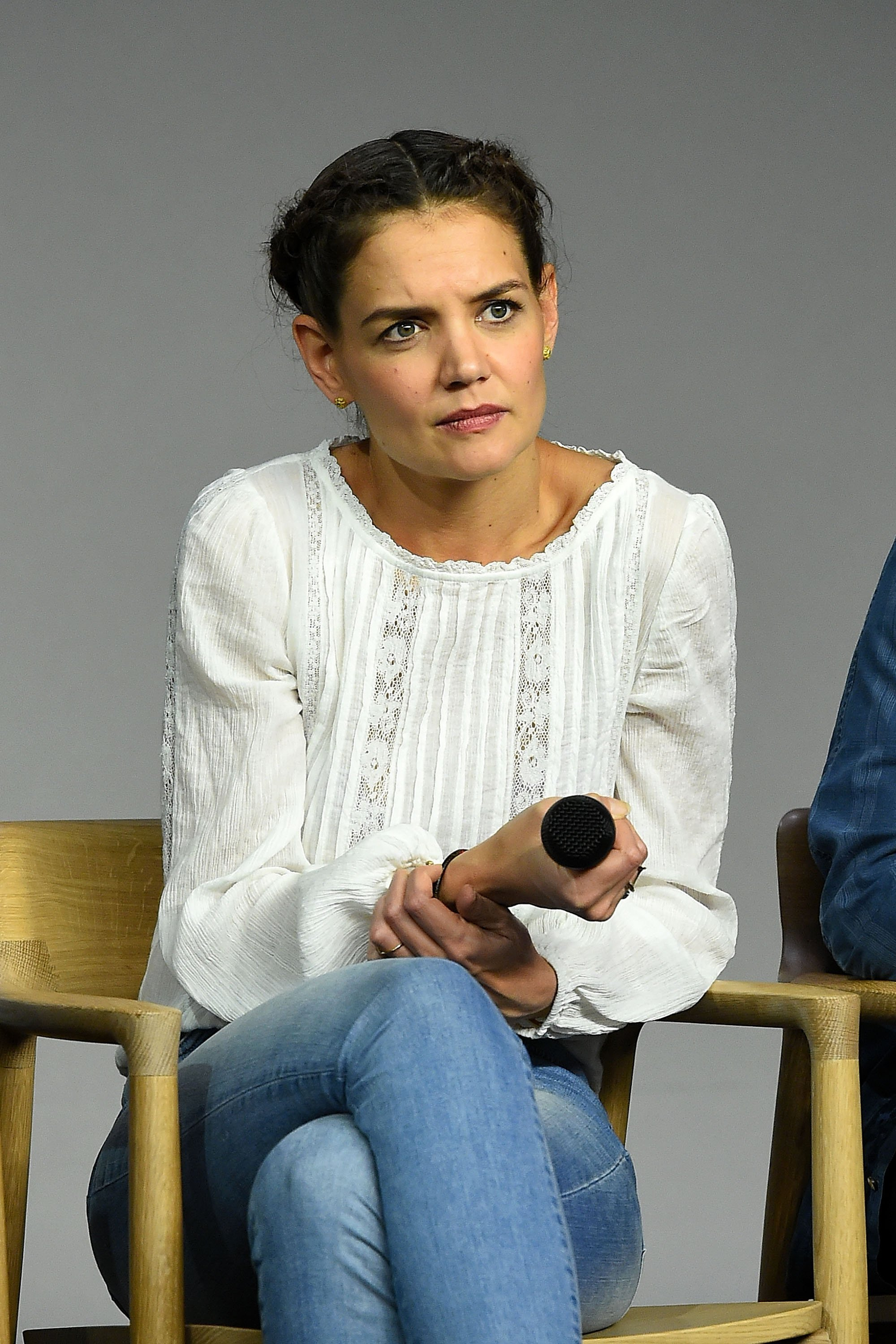 "Katie Holmes attends Apple Store Soho's ""Meet the Filmmaker"" in New York City on February 8, 2016 